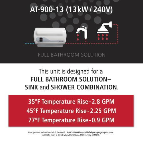 atmor 2.25 gpm electric tankless water heater - 13 kw at menards®