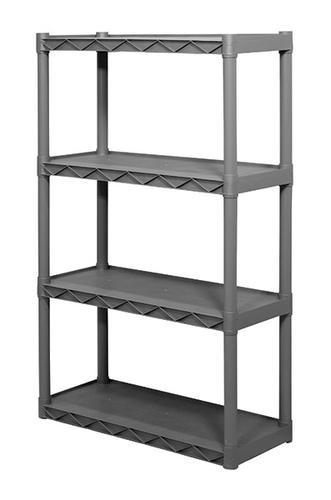 "Plano® 34-1/4"" W x 56-1/4"" H x 14-1/4"" D 4-Shelf Plastic Shelving Unit"