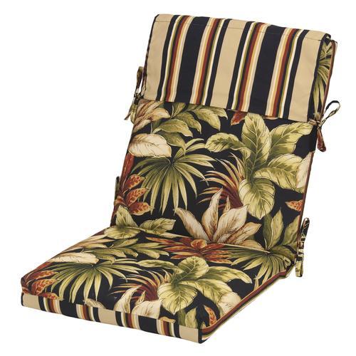 Backyard Creations Raven Floral Patio Patio Chair Cushions At Menards