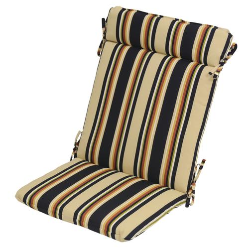 Backyard Creations Trade Raven Stripe Patio Wrought Iron Chair Cushions