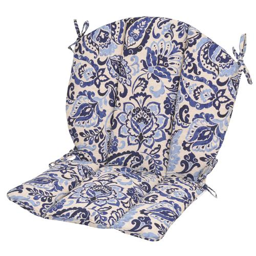 Backyard Creations Lafayette Floral Barrel Patio Chair Cushions At