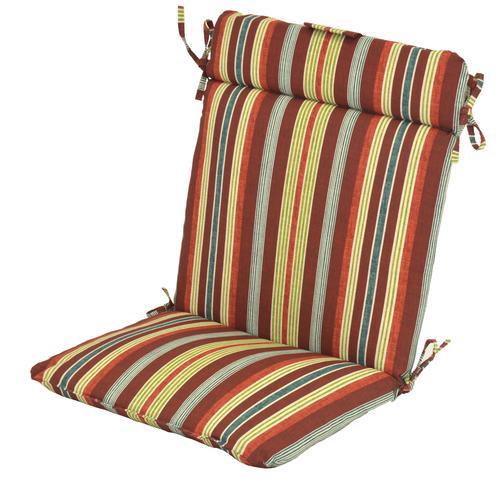 Backyard Creations Mango Bay Stripe Wrought Iron Patio Chair Cushions