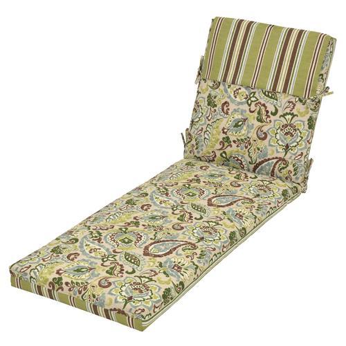 Backyard Creations™ Monroe Floral Patio Chaise Cushions at ...