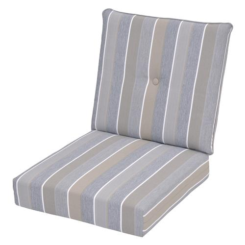 Backyard Creations Pacifica Stripe Deep Seating Patio Chair Cushion At Menards