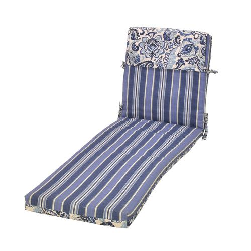 Backyard Creations™ LaFayette Stripe Patio Chaise Cushions