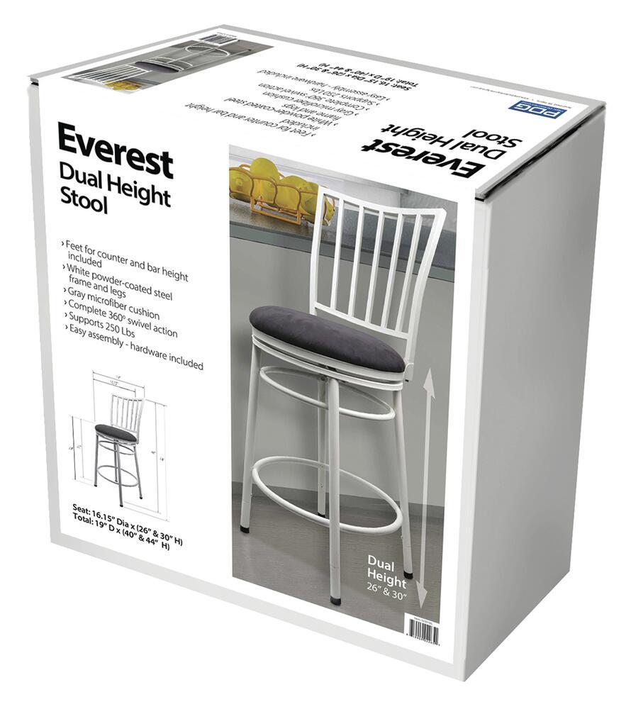 Everest Dual Height Swivel Bar Stool at Menards®