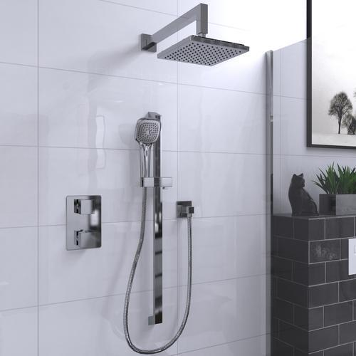 Belanger By Keeney Quadrato 2 Handle 1 Spray Shower Faucet