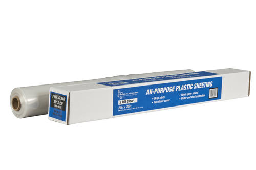 Polar Plastics  3 Mil Clear Rolled Poly All Purpose Plastic Sheeting At Menards