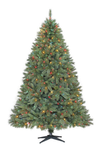 enchanted forest 8 prelit laguna pine artificial christmas tree at menards
