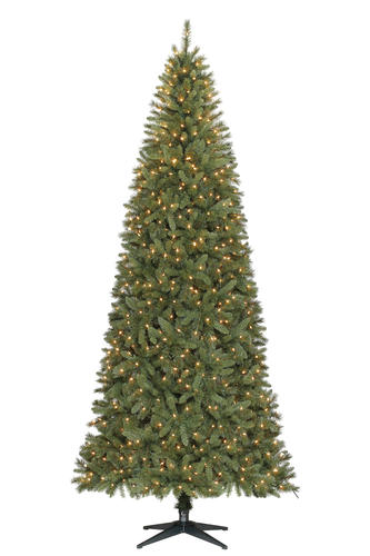 enchanted forest 9 prelit keyser pine artificial christmas tree at menards