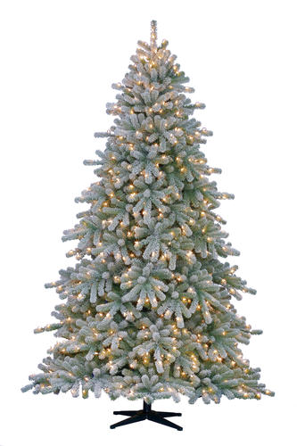 Enchanted Forest® 7.5' Prelit Keystone Spruce Artificial Christmas Tree at  Menards® - Enchanted Forest® 7.5' Prelit Keystone Spruce Artificial Christmas