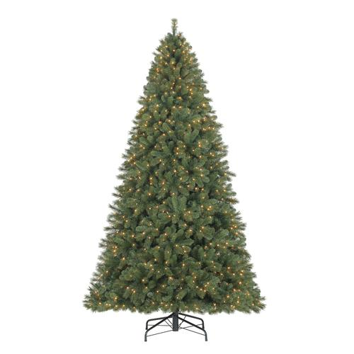 enchanted forest 10 prelit quick set linden mixed spruce artificial christmas tree at menards