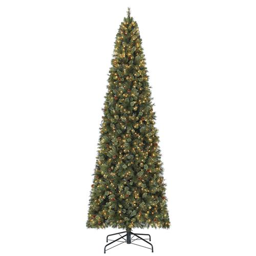 Menards Christmas Trees.Enchanted Forest 12 Prelit Warsaw Cashmere Quick Set Pine