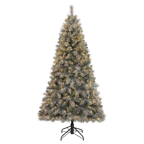 Menards Christmas Trees.Enchanted Forest 7 5 Prelit Lakeside Spruce Artificial