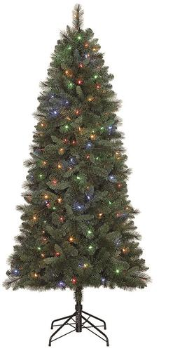 Menards Christmas Trees.Enchanted Forest 7 5 Prelit Brentwood Pine Artificial