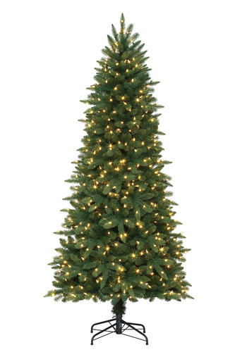 Enchanted Forest® 7' Prelit LED Waverly Mixed Pine Artificial Christmas Tree  at Menards® - Enchanted Forest® 7' Prelit LED Waverly Mixed Pine Artificial