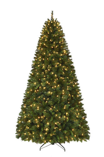 Enchanted Forest 8 5 Prelit Corning Pine Artificial Christmas Tree At Menards
