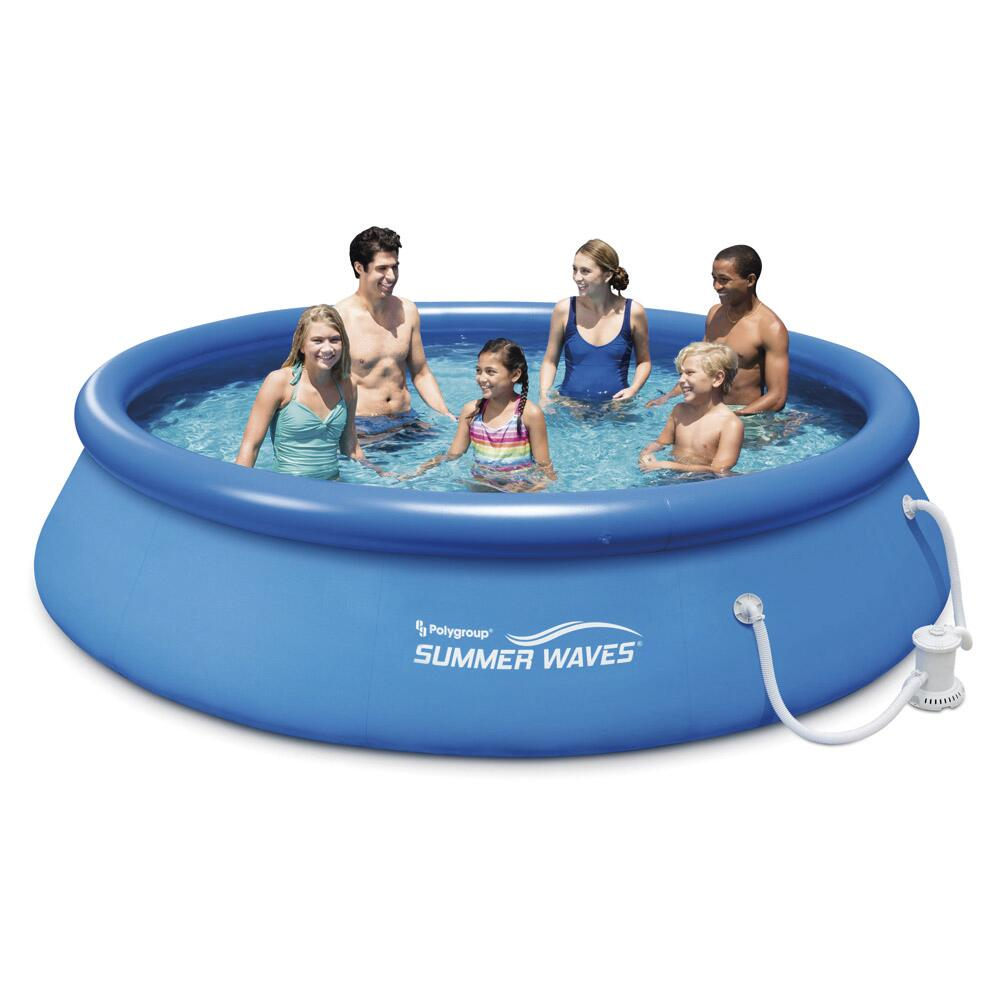 Polygroup Summer Waves 13 X 33 Quick Set Ring Pool At Menards