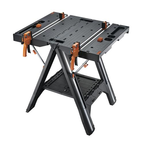 WORX® WX051 Pegasus Folding Work Table with Quick Clamps at