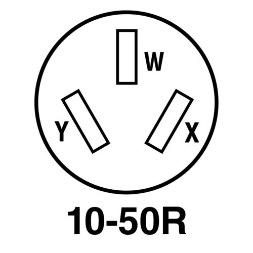 Legrand® Pass & Seymour® 50-Amp 125/250-Volt 3-Wire Black Flush Range Outlet  at Menards®Menards