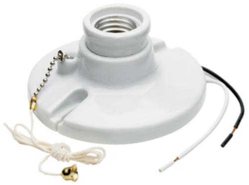 Legrand Porcelain White Pull Chain Lamp Holder At Menards