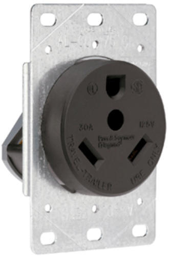 Rv Electrical Outlet >> Legrand Pass Seymour 30 Amp 125 Volt 3 Wire Black Rv