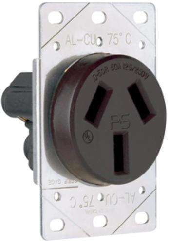legrand pass seymour 50 amp 125 250 volt 3 wire black. Black Bedroom Furniture Sets. Home Design Ideas