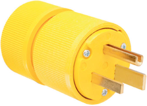 Legrand Pass Seymour Yellow 50 Amp 250 Volt Nema 6 50p Gator Grip Straight Blade Plug At Menards