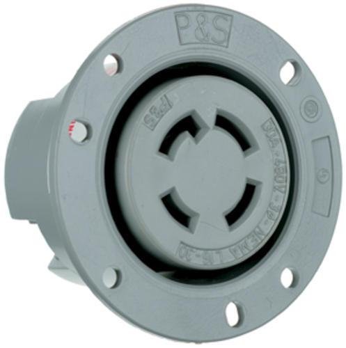 Legrand® Pass & Seymour® 30-Amp 3-Phase 480-Volt Gray Locking