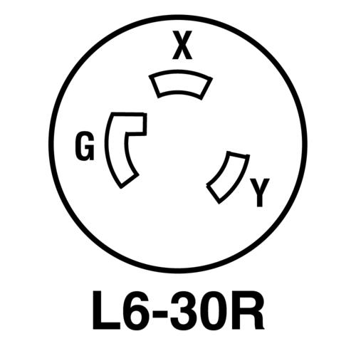 Legrand Turnlok Blackwhite 30 Amp 250 Volt Locking Connector At