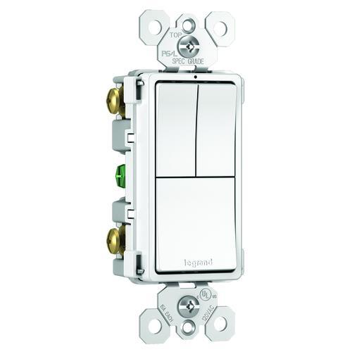 Legrand radiant® 15 Amp Combination Single Pole, Single Pole ... on