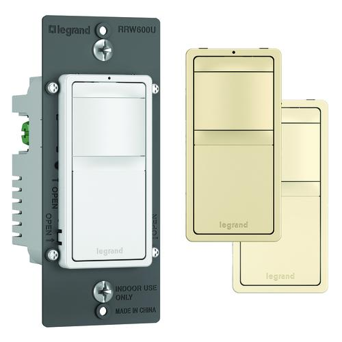legrand radiant® 600w tri-color single pole led motion occupancy sensor  switch
