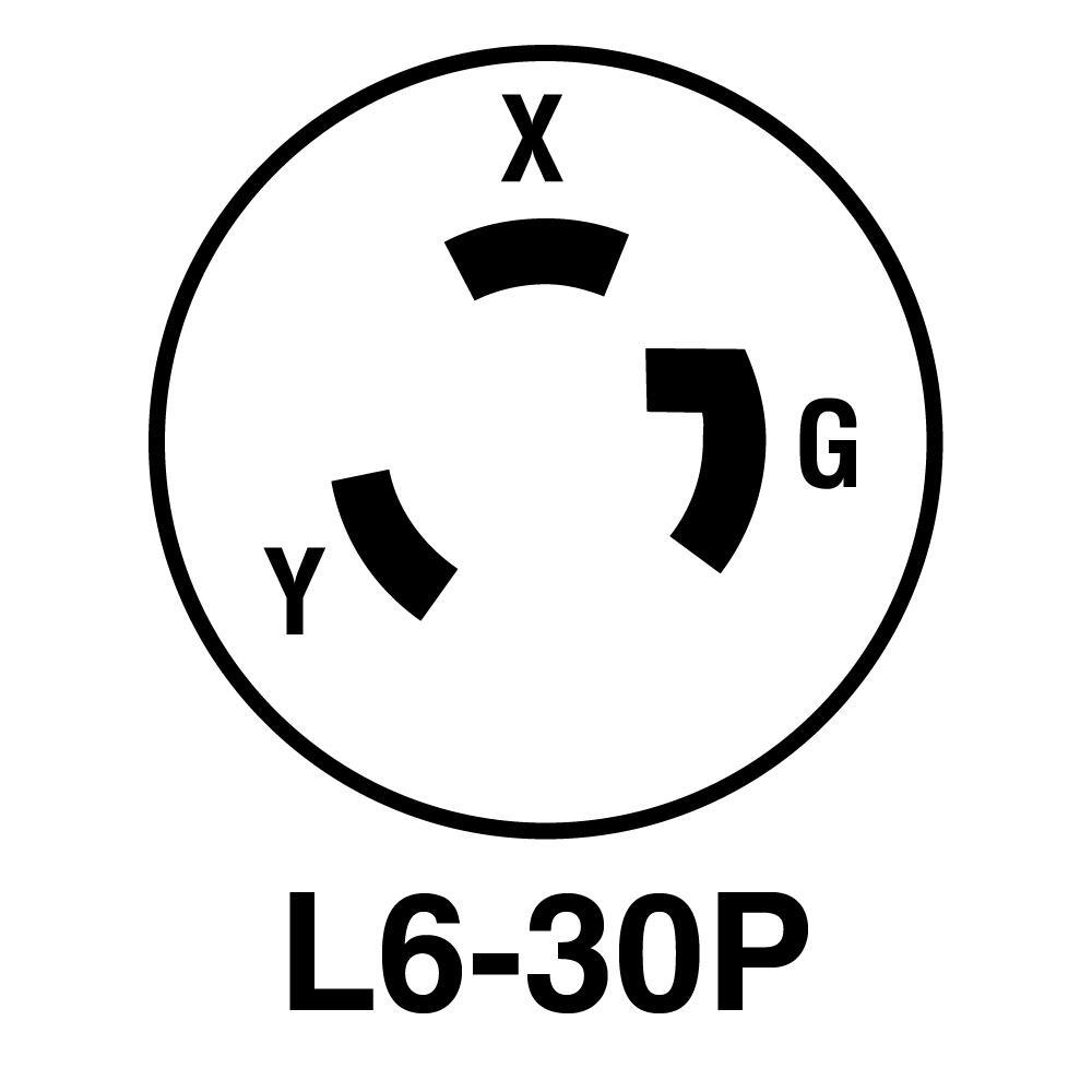 New Legrand Pass /& Seymour L630-FI Flanged Inlet Nema L6-30P Gray