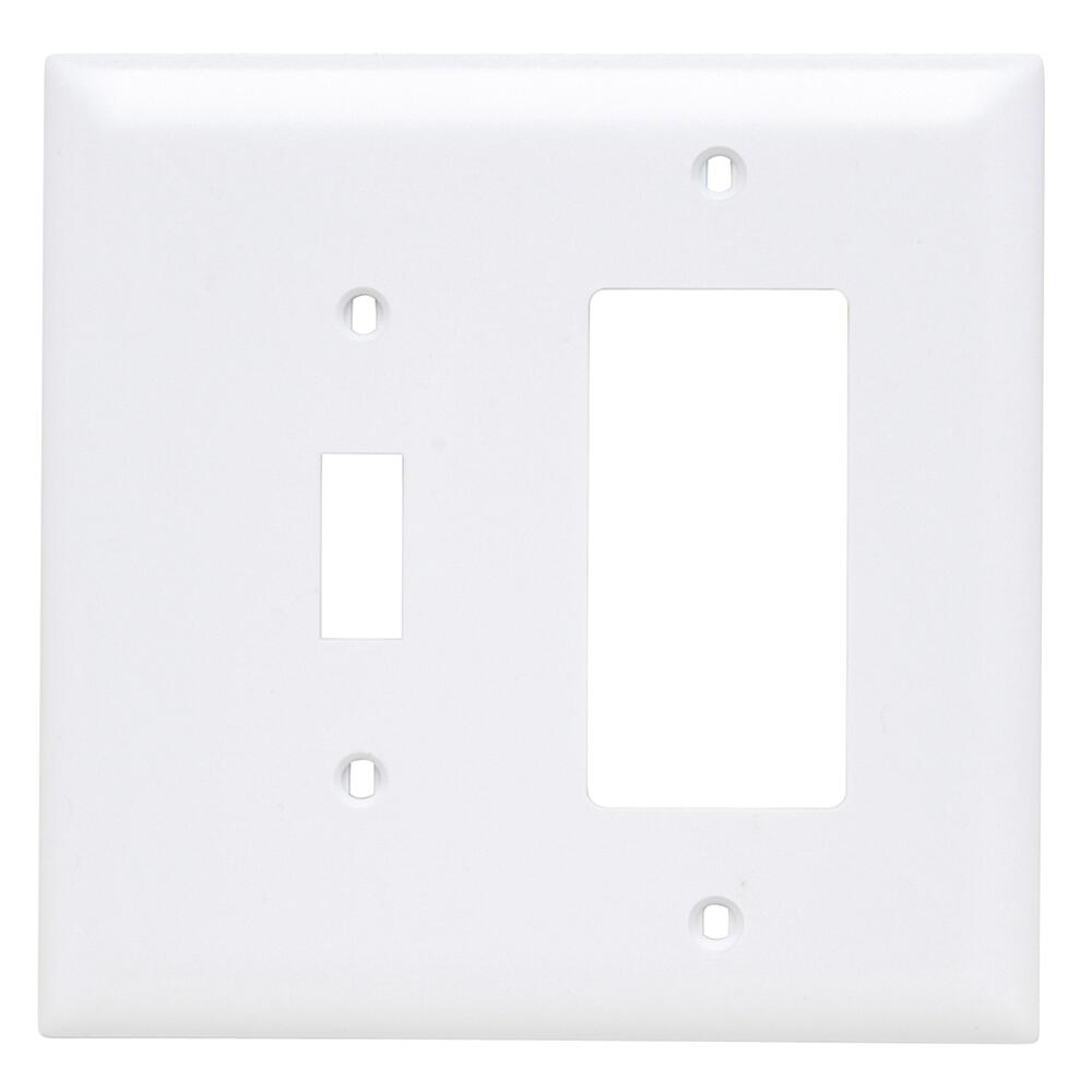 Legrand Trademaster White Nylon 2 Gang 1 Toggle Switch Decorator Wall Plate At Menards