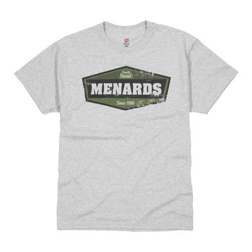 714bd0a8 Hanes® Menards® Chevron Logo Men's Short Sleeve Crew T-Shirt ...