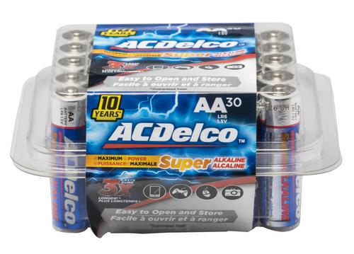 Acdelco Super Alkaline Batteries 30 Pack At Menards