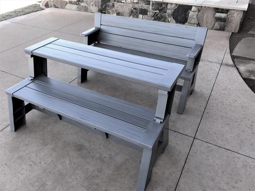 Admirable 58 Resin Convert A Bench Assorted Colors At Menards Evergreenethics Interior Chair Design Evergreenethicsorg