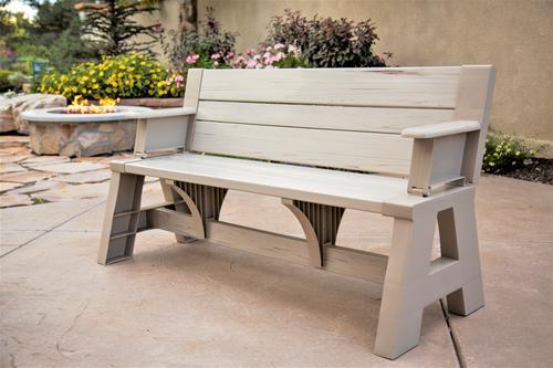 58 Quot Resin Woodgrain Convert A Bench At Menards 174