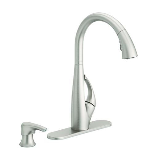 Pfister Jovi One Handle Pull Down Spot Defense Stainless Steel Kitchen Faucet At Menards