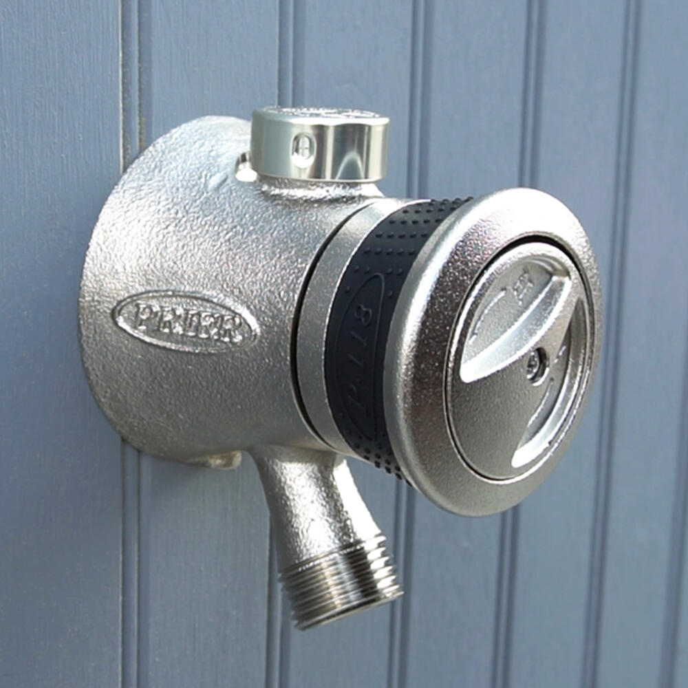 """Prier Products P-164XCC 1//2/"""" Crimp PEX Handle-Operated Freezeless Nickel"""