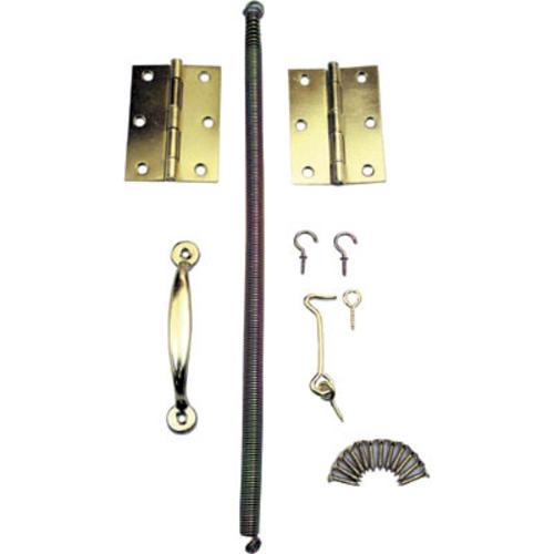 Prime Line Brass Plated Steel Wood Screen Door Kit At Menards