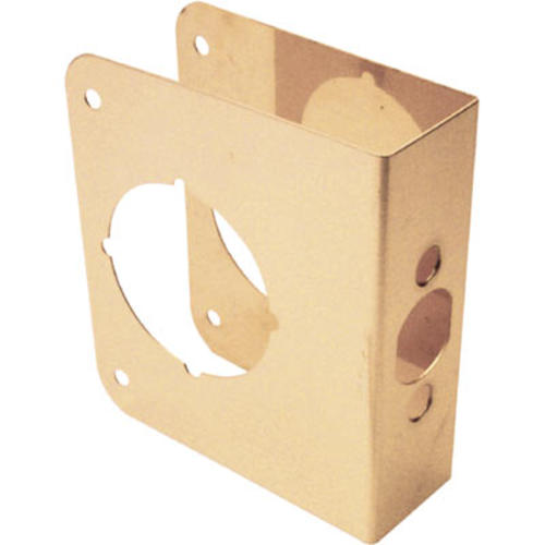 x 4-1//2 in Prime-Line 1-3//8 in Thick Solid Brass Lock and Door Reinforcer