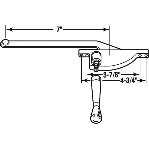 Prime-Line Products H 3506 7-Inch Teardrop Type Right Hand Casement Operator Aluminum