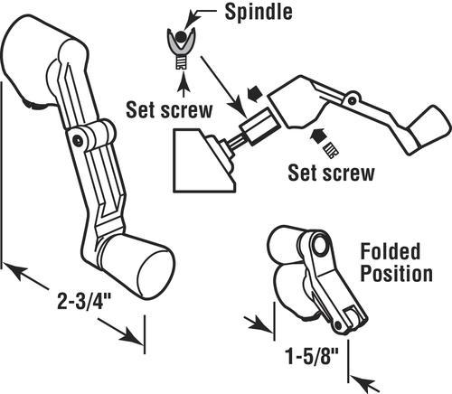 Prime Line Die Cast Universal Spline Folding Casement Operator