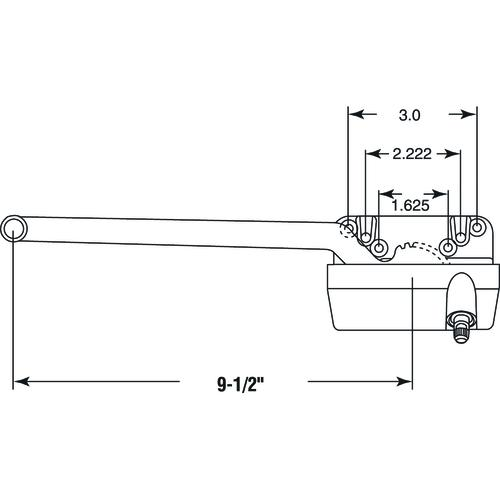 Prime Line 9 1 2 Single Arm Casement Window Operator And Crank At Menards