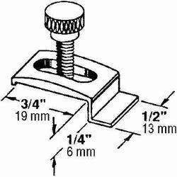 """Prime-Line T-8725 Storm Door Panel Clip w//Screws 1//4/"""" White//Aluminum LOT OF 2"""