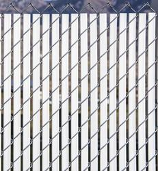 4' Bottom Locking Double Wall Chain Link Fence Slats at ...