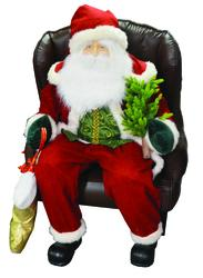 Enchanted Forest 174 48 Quot Inflatable Santa In Chair At Menards 174