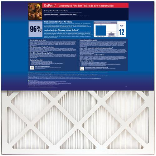 dupont® allergen ultimate 9600™ pleated replacement air filter merv ...
