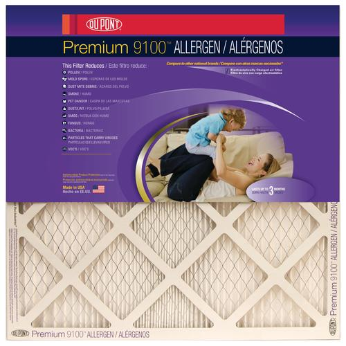 dupont® premium pleated replacement air filter merv 12 at menards®